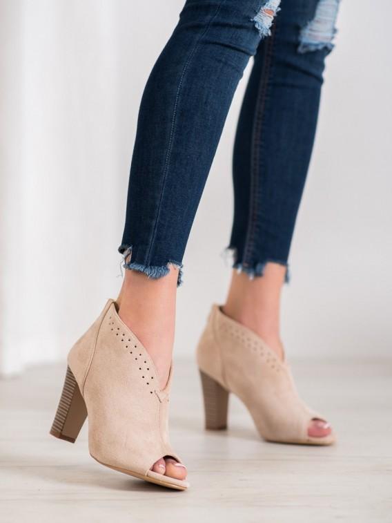 Členkové topánky s otvorenou špičkou