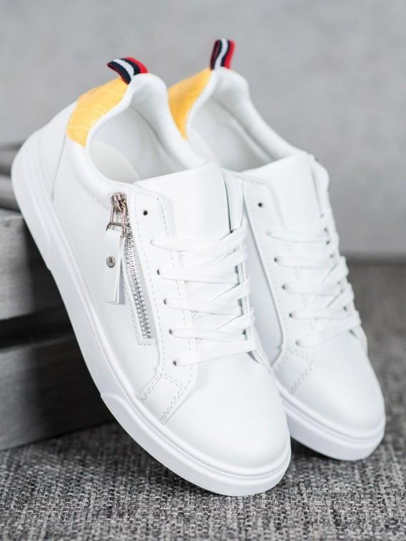 Športové topánky s ozdobným zipsom