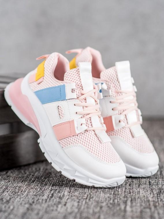 Farebné tenisky so sieťkou