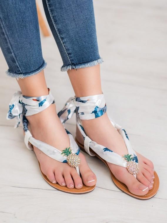 Viazané sandálky s ananasom
