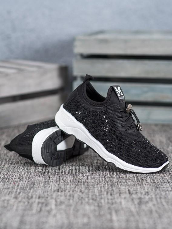 Viazané topánky s kryštálmi