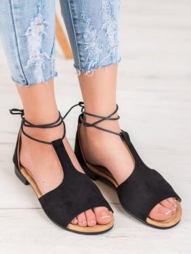 Viazané sandálky