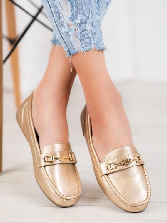 Elegantné zlaté mokasíny