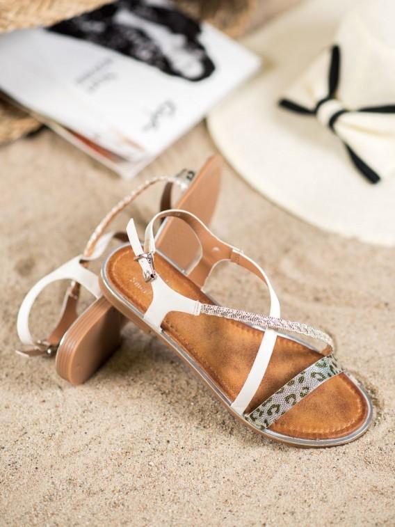 Štýlové sandále s leopradím vzorom