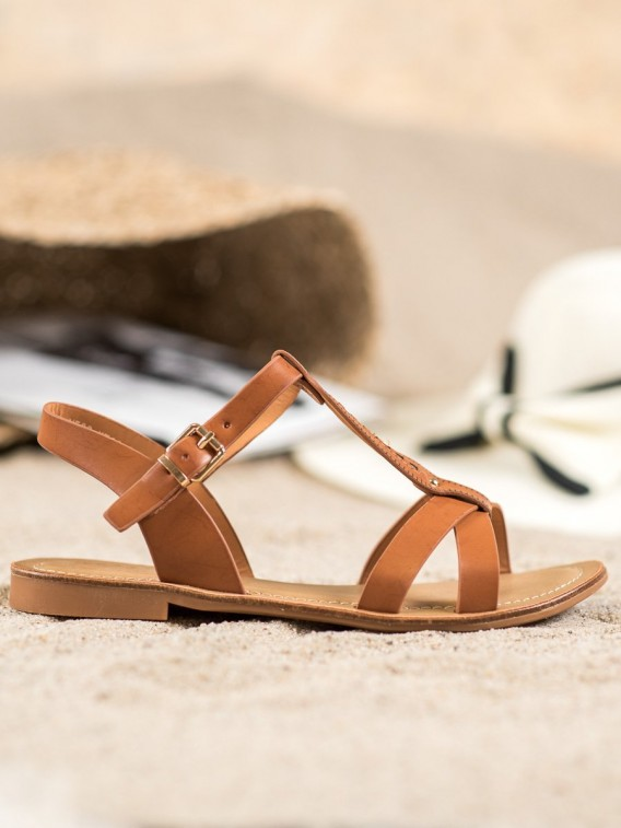Elegantné hnedé sandále