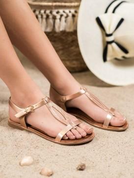 Štýlové sandále z eko kože