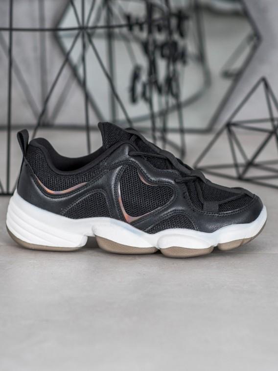 Štýlové čierne sneakersy