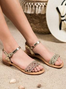Elegantné pletené sandálky
