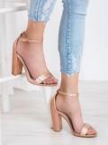 Sexy lesklé sandále