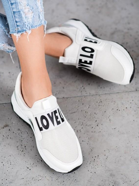 Slipony na platforme Love