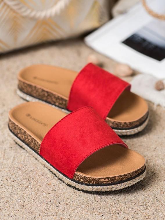 Červené šľapky