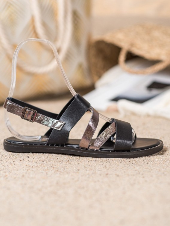 Pohodlné sandále z eko kože