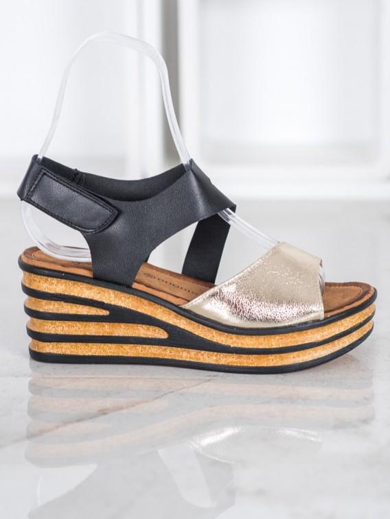 Módne sandále na suchý zips