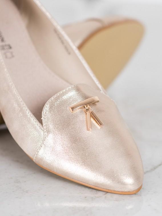 Lesklé zlaté baleríny