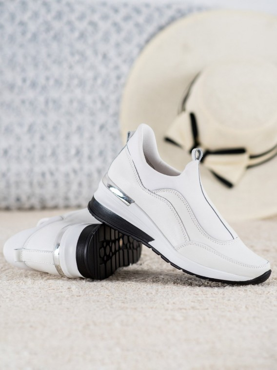 Nazúvacie topánky z kože