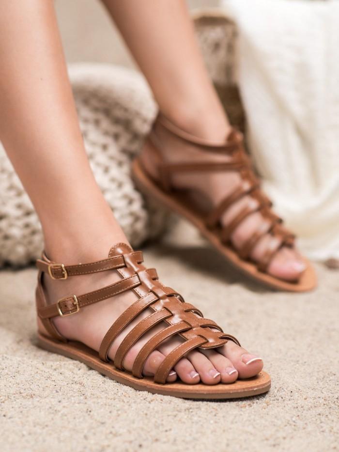 biele gladiátorky obuv