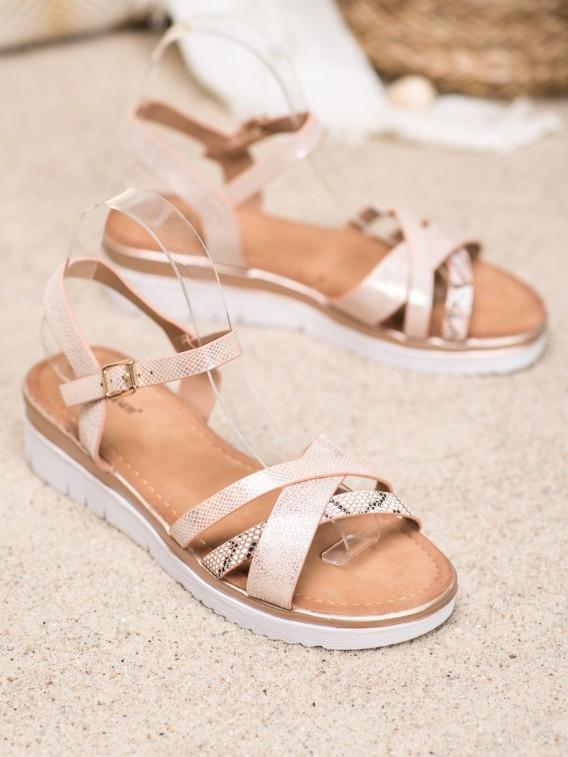 Sandálky na nízkom kline