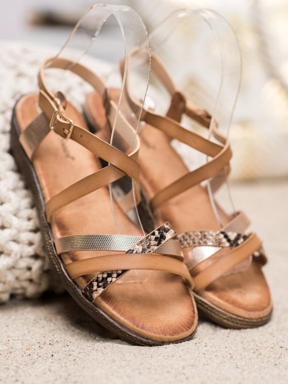 Štýlové hnedé sandále