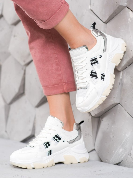 Biele sneakersy SPORT
