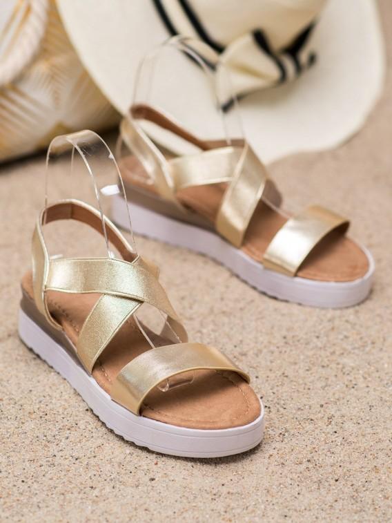 Zlaté sandále