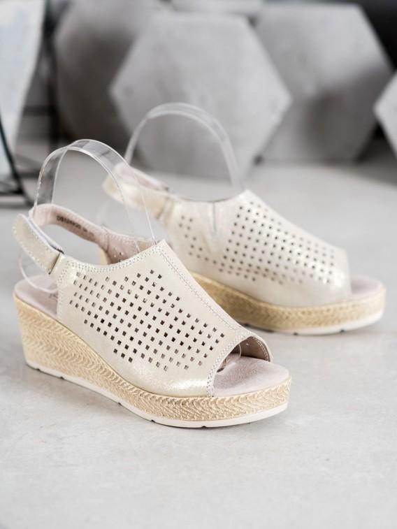 Kožené sandálky na suchý zips