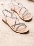 Sandálky so striebornými ozdobami