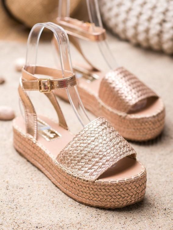 Sandálky espadrilky na platforme