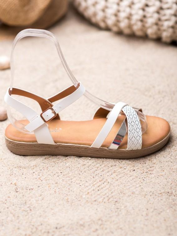 Štýlové sandálky z eko kože