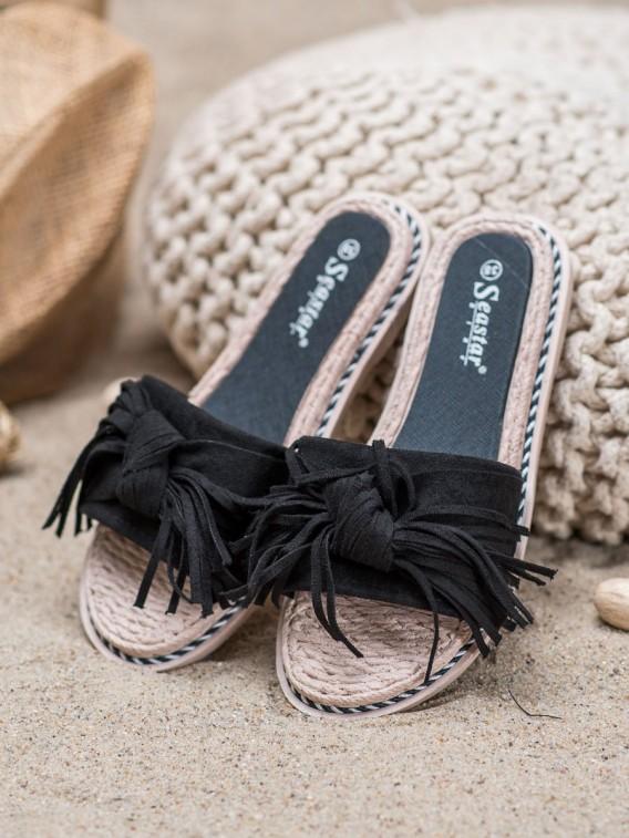 Pohodlné šľapky so strapcami
