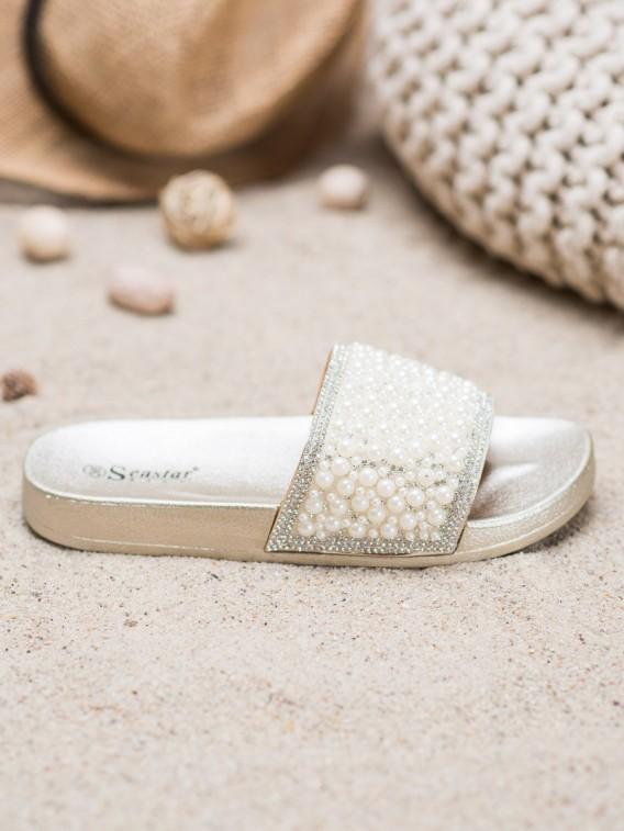 Elegantné šľapky s perličkami