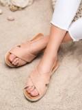 Nazúvacie sandále so semišu