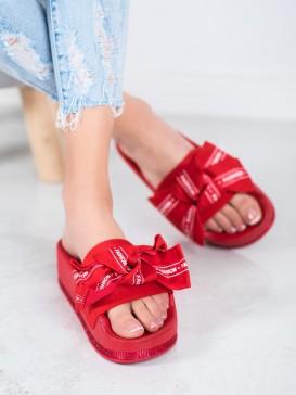 Červené šľapky FAshion