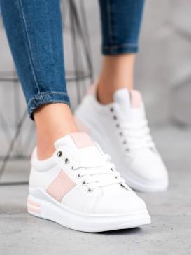 Športové topánky s ružovými prúžkami