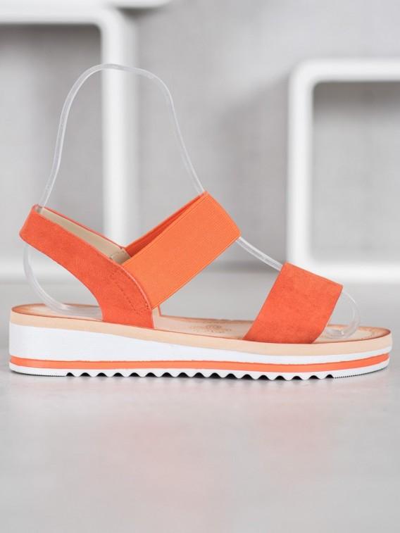 Semišové sandálky na platforme