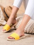 Textilné žlté šľapky