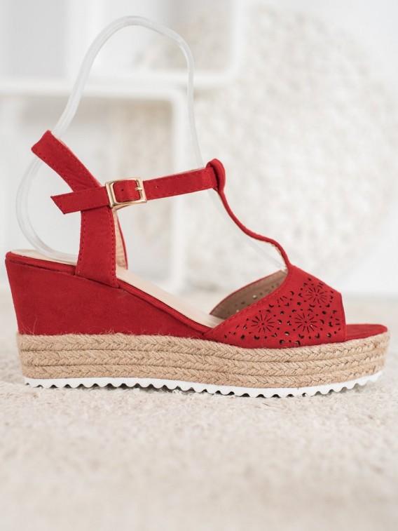 Dierkované sandále espadrilky