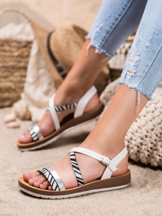 Sandálky so zebrovou potlačou
