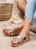 Klasické zlaté sandálky