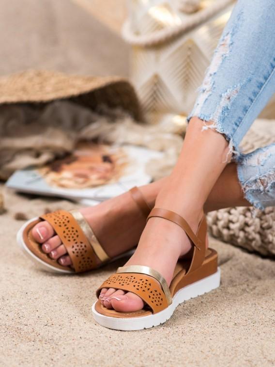 Sandálky na kline z eko kože