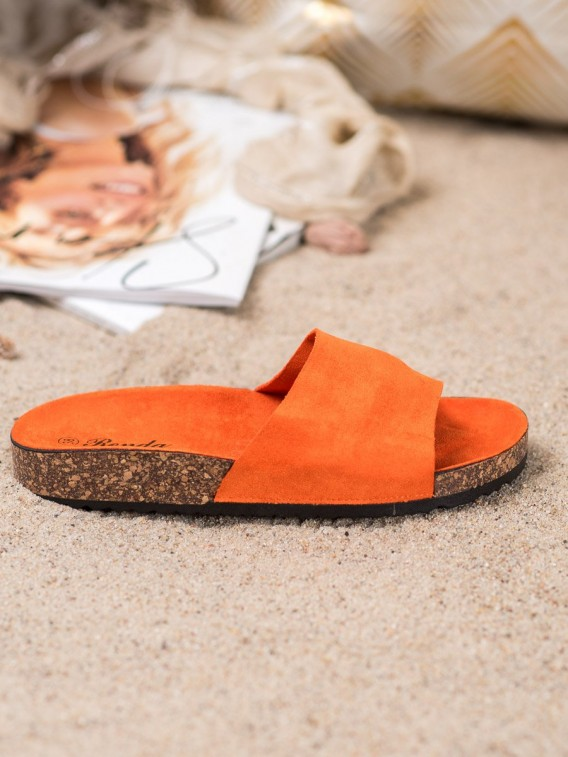 Oranžové šľapky