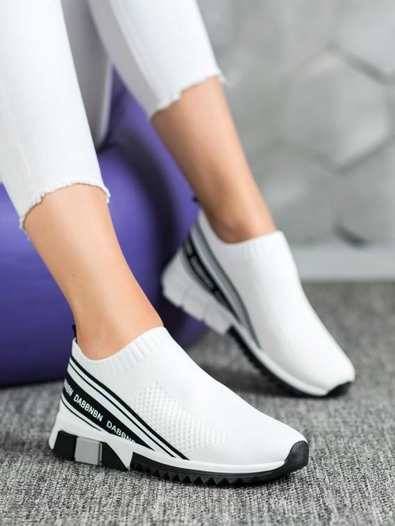 Textilné biele športové topánky