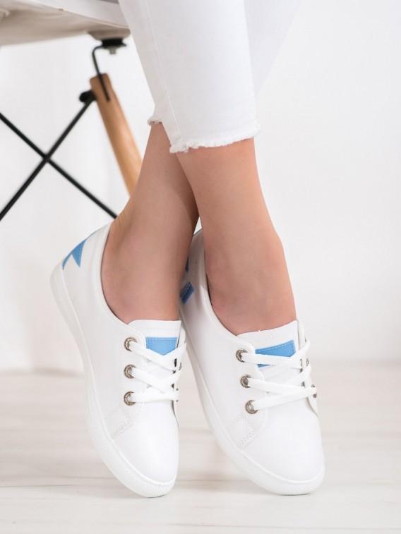 Biele tenisky z ekologickej kože
