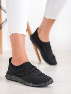 Viazané čierne tenisky
