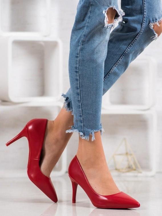 Elegantné červené lodičky