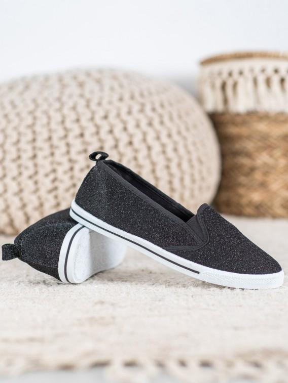 Nazúvacie topánky s brokátom