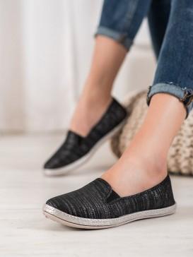 Pohodlné čierne espadrilky