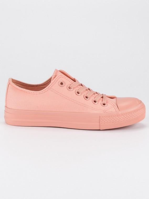 Ružové tenisky so šnurovaním 825-1-A-P