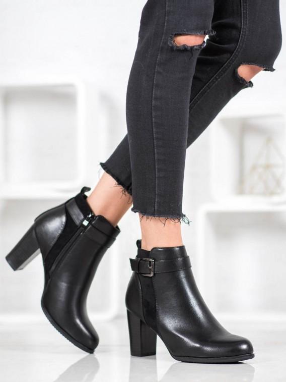 Zateplené členkové topánky s prackou