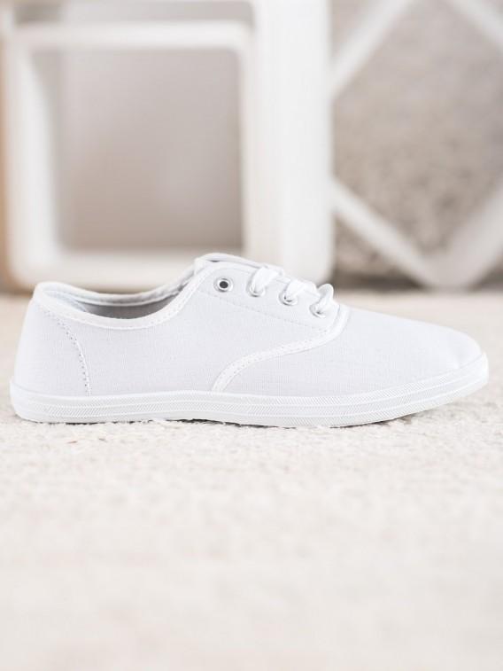 Biele plátené tenisky