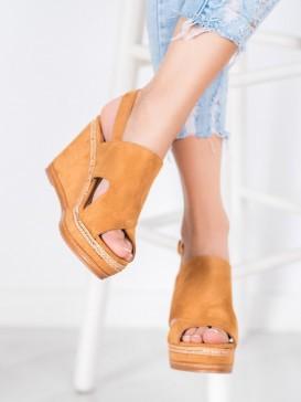 Hnedé sandálky Fashion
